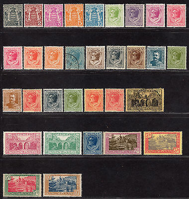 $Monaco Sc#60-92 Mint+Used, hinged, partial set, needs #84, Cv. $75.25