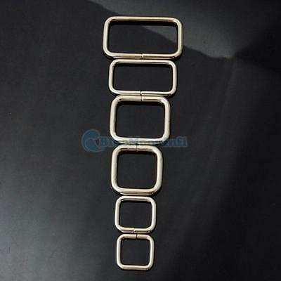 """1"""" 3/4"""" 5/8"""" 1/2"""" Inch 25 19 15 12mm Rectangle No Welded Dee Ring Metal Square"""