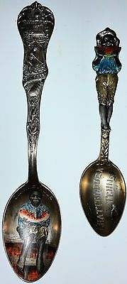 Pair of Sterling Black Americana Spoons, Both from Tennessee