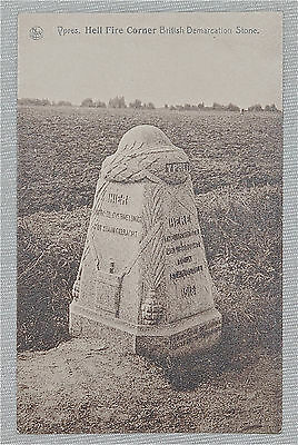 YRPES Hell Fire Corner British Demarcation Stone Postcard