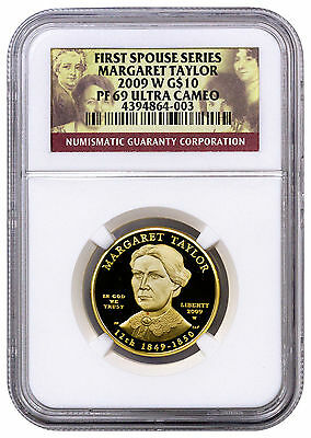 2009-W Margaret Taylor First Spouse Gold Proof $10 NGC PF69 UC SKU21706