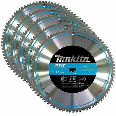 Makita A-93728 12-Inch 80 Tooth Smooth Crosscutting Miter Saw Blades, 5-Pack