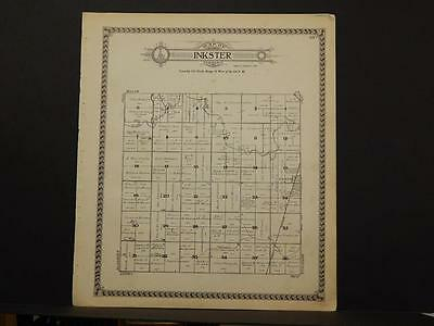 North Dakota Grand Forks County Map Inkster Township 1927   L6#75