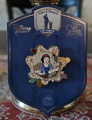 DISNEY 110th Legacy SNOW WHITE & the 7 DWARFS LE 250 Spinner Pin New On Card