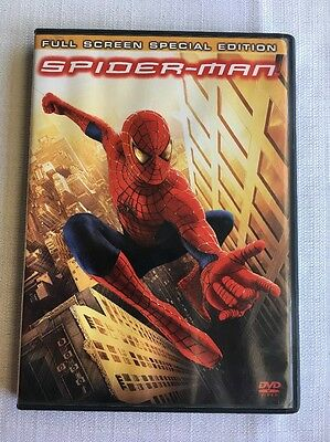 (V) Spider-Man (DVD, 2002, 2-Disc Set, Special Edition Full Frame) Tobey Maguire