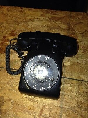Western Electric Rotary Dial Black Telephone Model 500 Dm