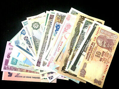 Uncirculated Crisp Condition!!!!! 1 Random World Foreign Banknotes,Currency