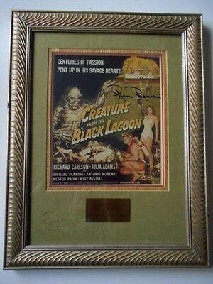 Creature From the Black Lagoon Universal Studios 1990 framed ad art autographed