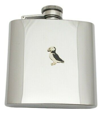 Puffin Design Stainless Steel Hip Flask Gift Boxed New Free Engraving 289