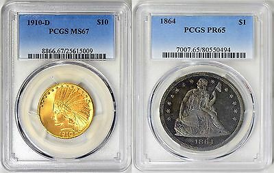 1910-D Indian Ten Dollar $10 Eagle Gold Coin PCGS MS-67 Finest Known None Finer