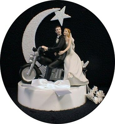 motorcycle wedding cake toppers uk and groom motorcycle get away wedding cake topper 17616