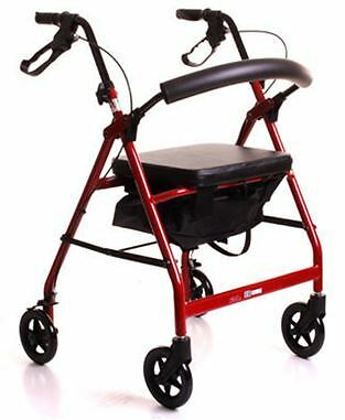 Lightweight Aluminium 4 Wheeled Rollator Walking Frame Walker With Seat