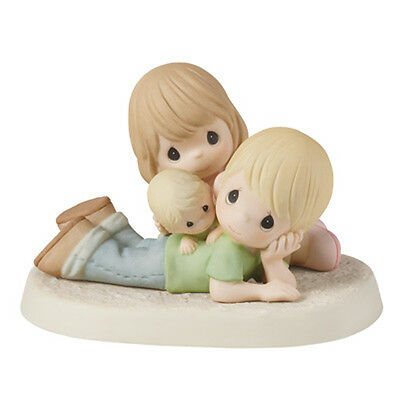$ PRECIOUS MOMENTS Figurine FAMILY PLAY TIME Porcelain Statue FATHER MOTHER BABY