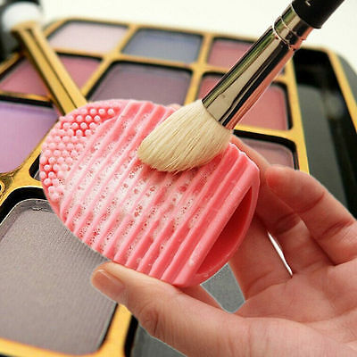 Makeup Brush Cleaner Glove Egg Scrubber Cosmetic Cleaning Silicone Foundation $m