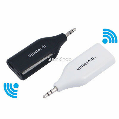 Car Wireless Bluetooth 3.5mm AUX Receiver Adapter For Audio iPad Phone Speaker
