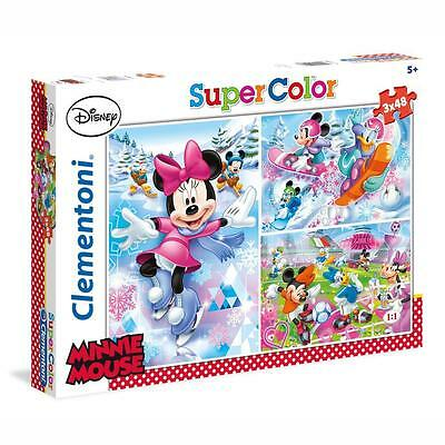 Disney Minnie Mouse - Puzzle Rompecabezas Minnie Mouse Sport 3 x 48 Piezas