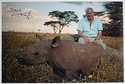 David Attenborough SIGNED 12x8 Photo Autograph Animals TV AFTAL Memorabilia COA