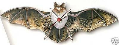 Flying Bat wooden wall clock  Gift Boxed made in UK NEW