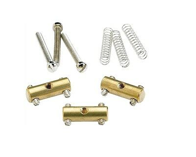 Genuine Fender 52 Tele Telecaster Brass Saddle Kit 0990843000