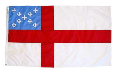 Episcopal Anglican Indoor Outdoor Sewn Nylon Flag Grommets Made in USA 4' X 6'