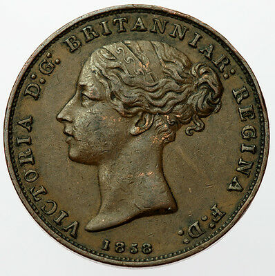 1858 1/26 Shilling Jersey ~ Victoria Young Head