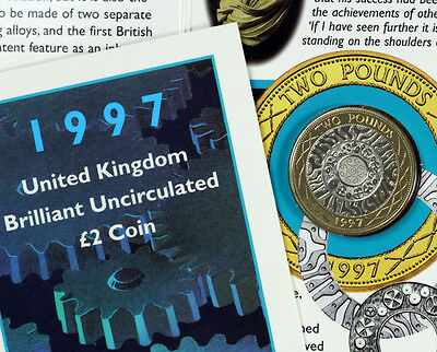 1997 £2 Coin Brilliant Uncirculated in Presentation Pack ~ 20th Birthday?