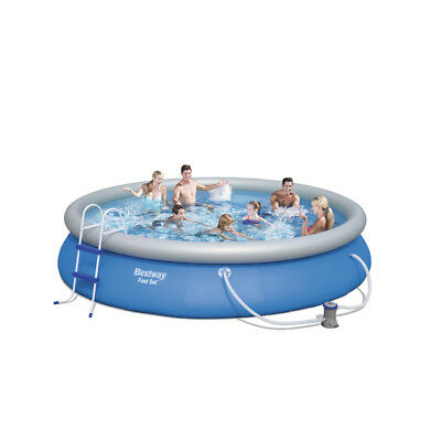 """Bestway 15ft x 33"""" Fast Set Swimming Pool with Filter Pump +Accessories (57316)"""