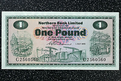 Northern Bank £1 Note 1st July 1970 - P187a - aUNC