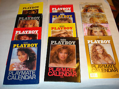 Playboy Calendar - Lot Of 12 -  1977-2001 - Wow! Nice Collection - Take A Lqqk
