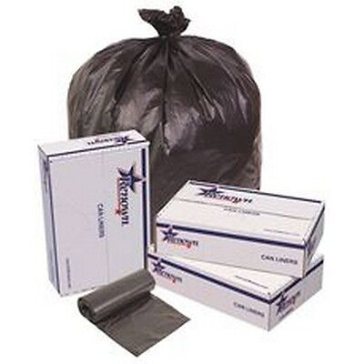 Trash Can Liners-Black-40X48-16Mic-25 Liners Per Roll-10 Rolls Per Case NEW