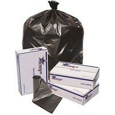 Trash Can Liners-Black-40X46-1.2Mil-20 Liners Per Roll-5 Rolls Per Case NEW