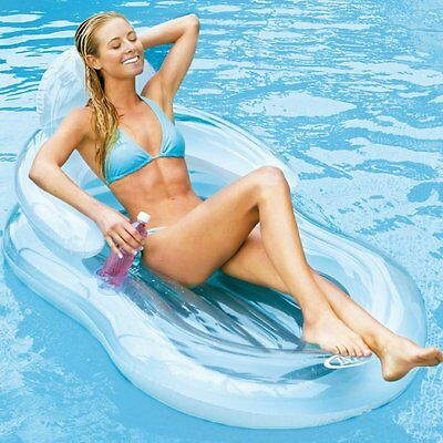 Intex Inflatable Lounger Floating Comfort Lounge Summer Lilo Swim Float Chair