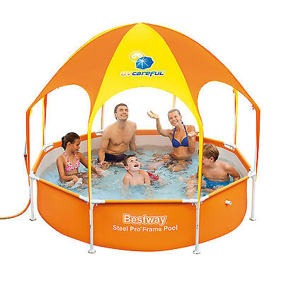 Bestway Splash-In-Shade Play Pool with Sunshade, Paddling Swimming Pool  #56432