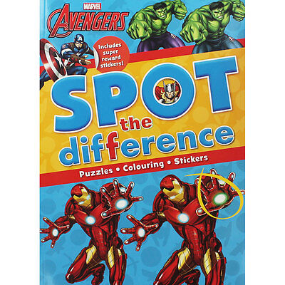 Avengers Spot The Difference (Paperback), Children's Books, Brand New