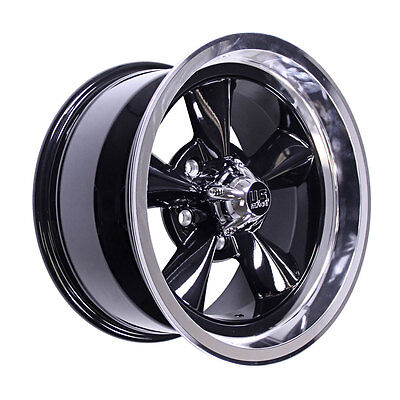US Mags U10715706537 Mustang Wheel 15x7 Black w/ Diamond 65-73