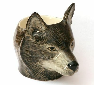 Wolf face Ceramic Egg Cup by Quail NEW Gift Boxed