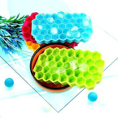DIY Large Ice Cube Tray Pudding Jelly Maker Mold Honeycomb Square Mould Silicone