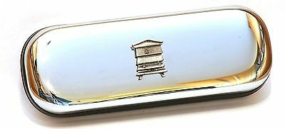Bee Hive Pewter Motif Beekeeper Glasses Spectacle Case Gift Award FREE ENGRAVING