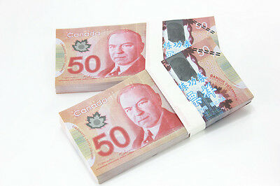 A Bundle of 100pcs Canada C$ 50 Commemorate Banknotes Paper Money Collection