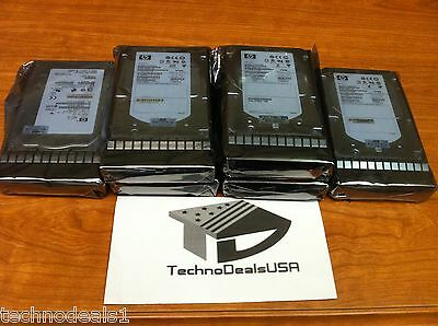 hp AJ872A 495808-001 AJ872B 600GB 15K M6412 3.5'' FC HDD - lot of 4