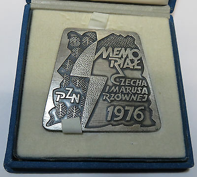 Medal Medaille Plakette Pzn Memorial Czecha I Marusarzownej Wintersport 1976