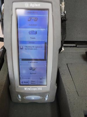 Agilent Wirescope 350 Cable Tester Cat6 With Power And Case