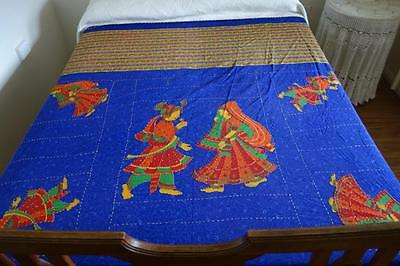 Bohemian Cotton Handstitched Bedspread Wallhanging 250x210