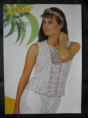 ff133a0a7dcc1 Paper Knitting Pattern Vintage 80s Lister 5041 Ladies Women s Sleeveless Top