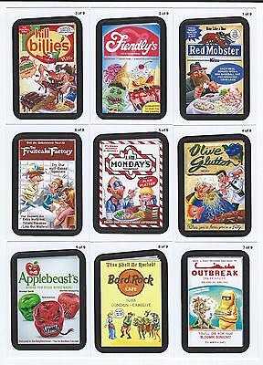 2013 Topps WACKY PACKAGES ANS Series 11 RUDE FOOD Insert Set  (9 Cards)