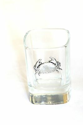 Pewter Crabb  on Crystal Shot Tot Glass Cup Ideal  Gift