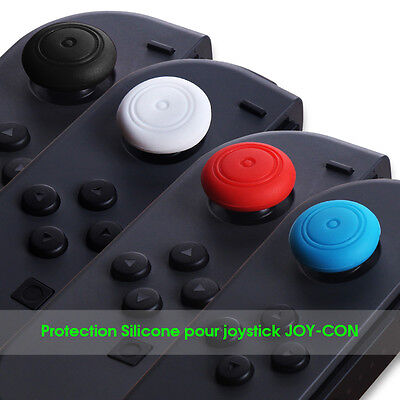 Silicone Case Thumb Stick Caps Gel Guards for Nintendo Switch Joy-Con Controller