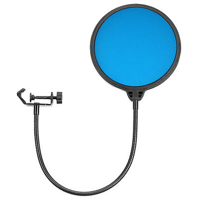 """Neewer Blue Double-Layer 6"""" 360° Microphone Pop Filter Wind Screen Mask Shield"""