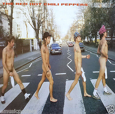 """RED HOT CHILI PEPPERS """"ABBEY ROAD E.P."""" U.S. PROMO POSTER - Funk Rock Music"""
