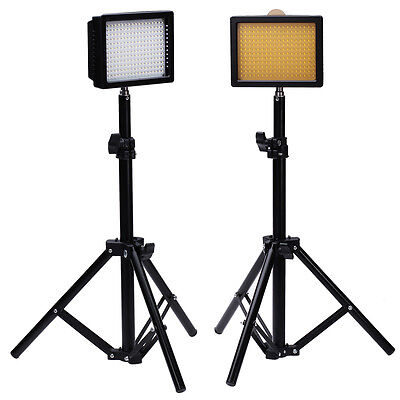 2set 216 LED Dimmable Ultra High Power Panel + Light Stand for Video, Portrait